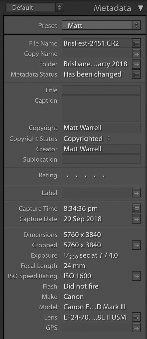 Lightroom Metadata - tips for Lightroom
