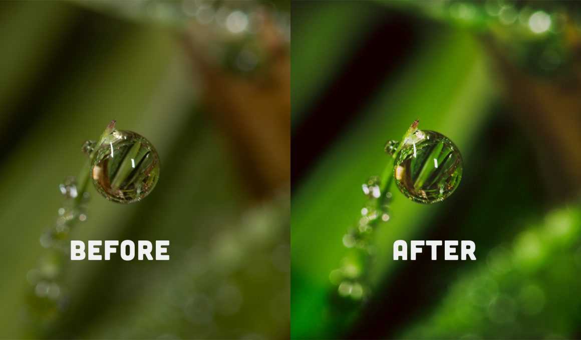 Before and after comparison