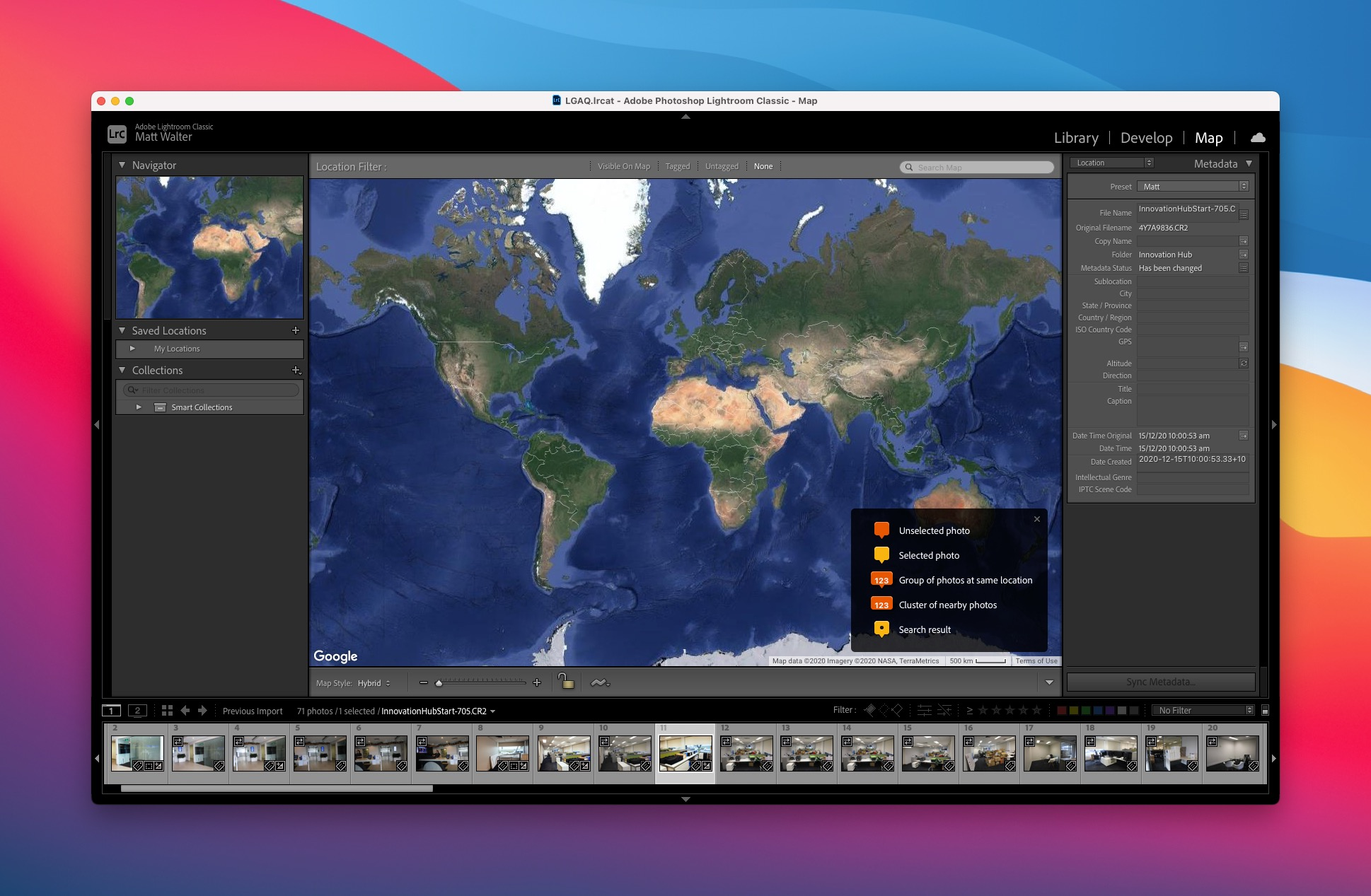 How to add location information in Lightroom