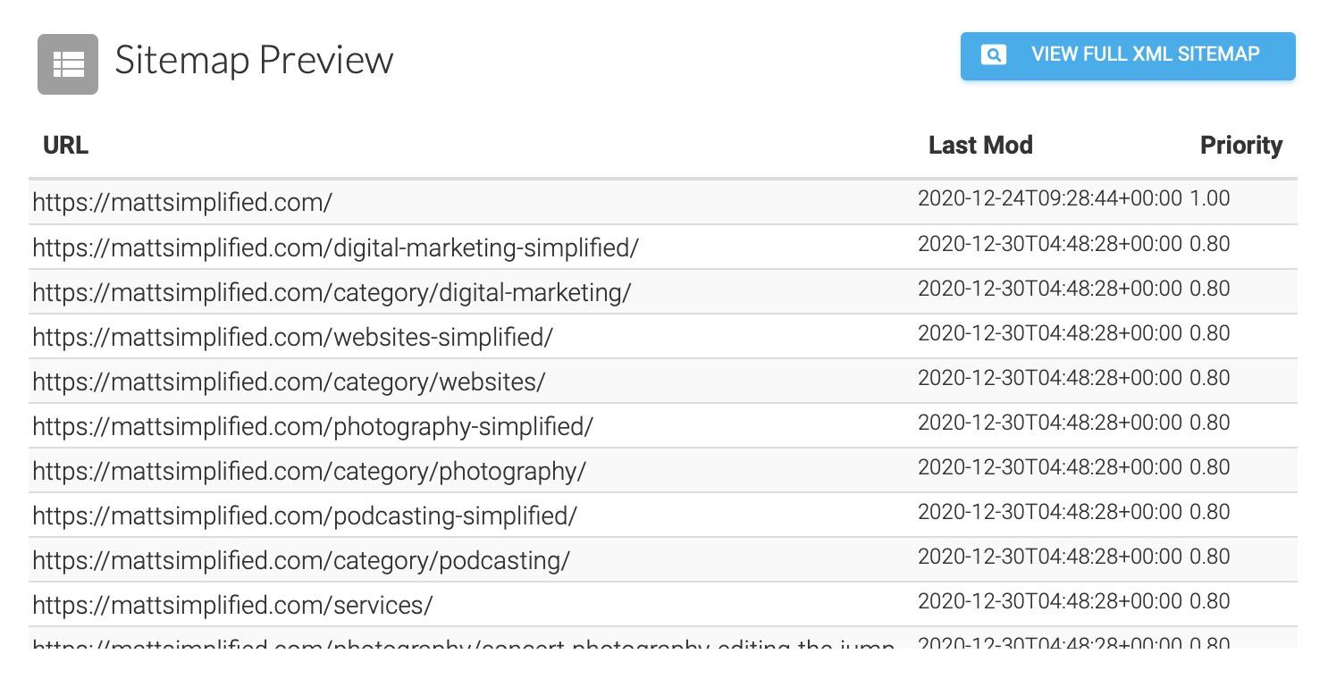 XML Sitemaps