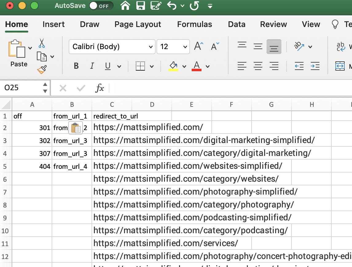 XML Sitemap Redirects - How to redirect a lot of links