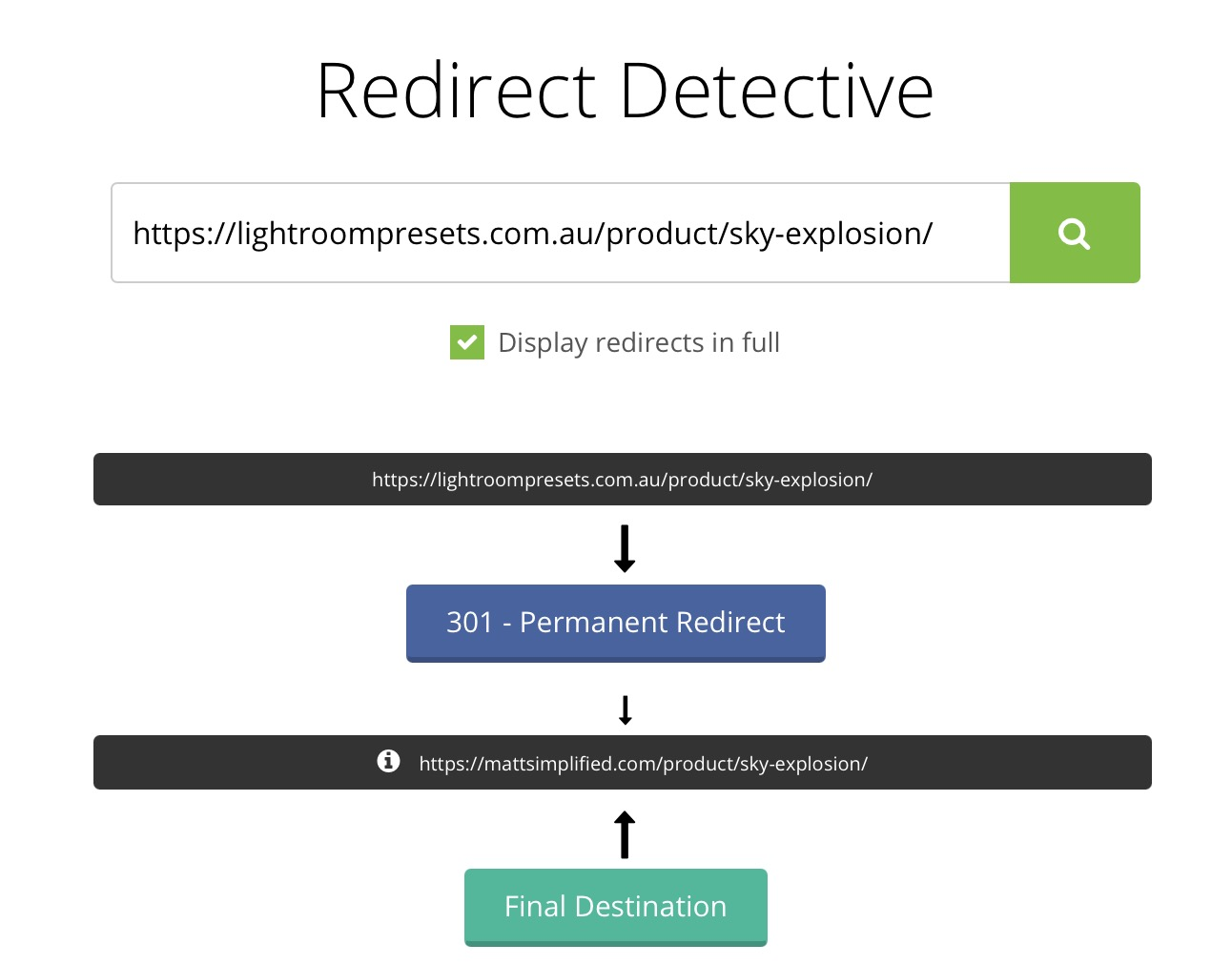Redirect Detective - How to redirect a lot of links