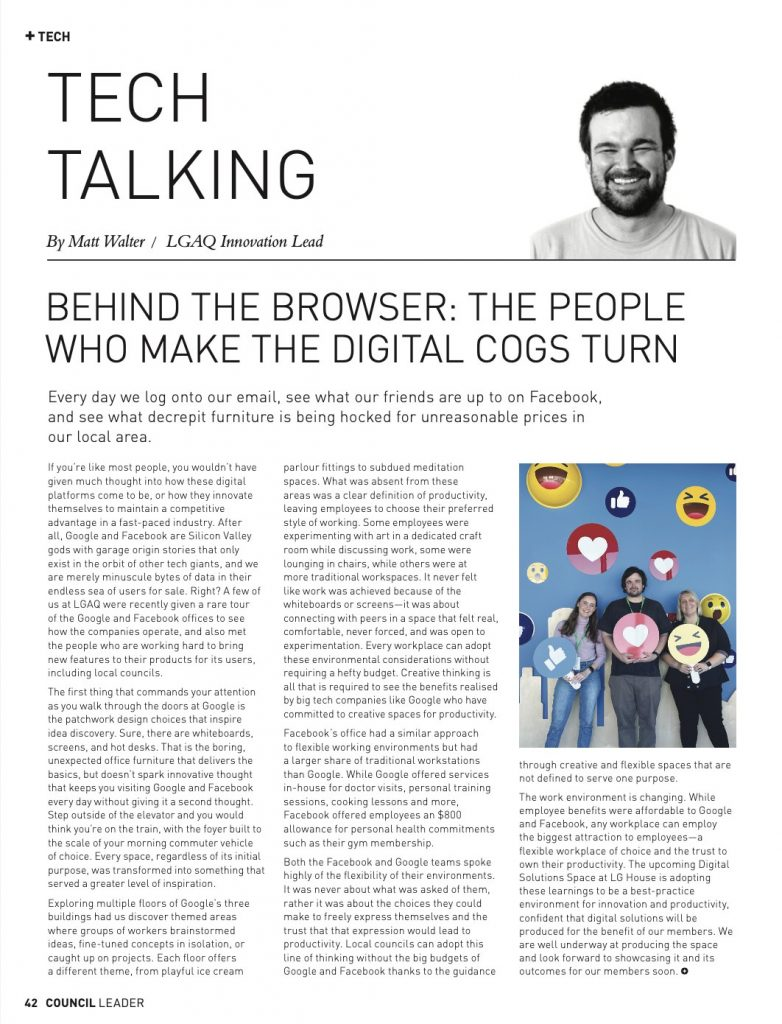 Behind The Browser: Digital Cogs Council Leader